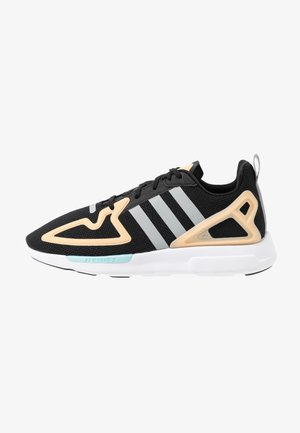 ZX 2K FLUX - Sneakers laag - core black/grey two/glow orange