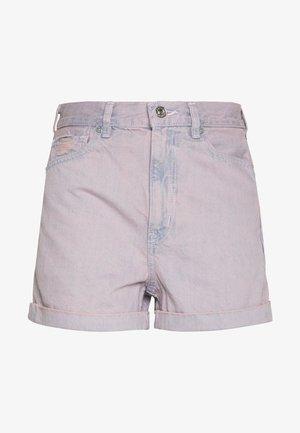 HIGHEST RISE MOM OVER DYE DENIM - Denim shorts - purple wash