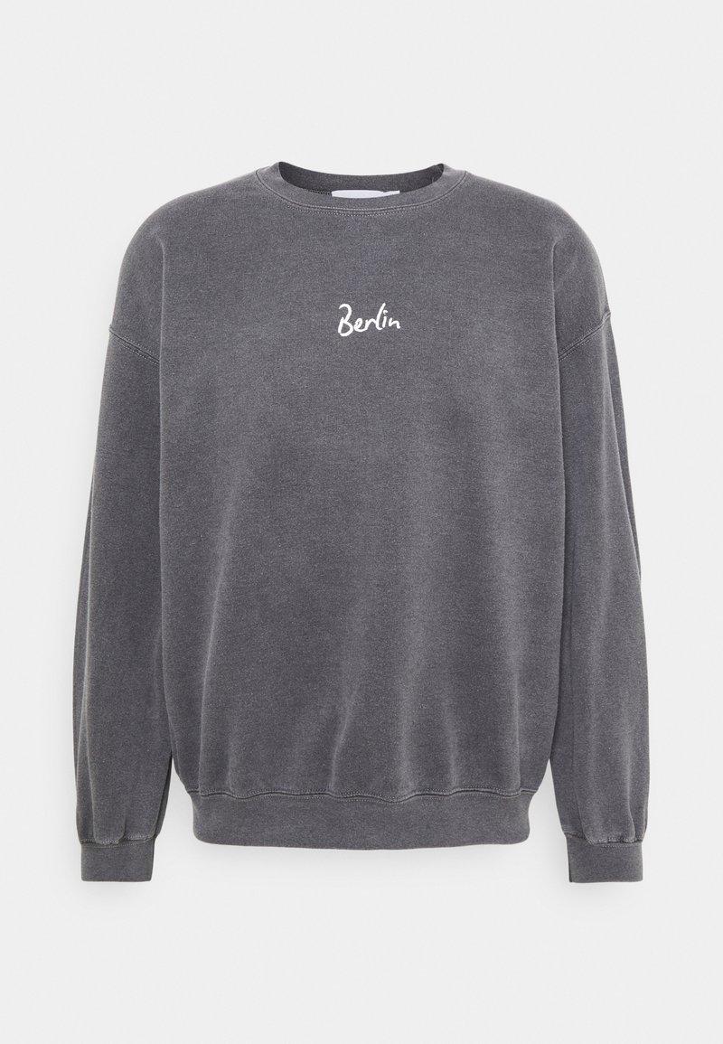 Topman - BERLIN BIRO PRINT UNISEX - Sweatshirt - black