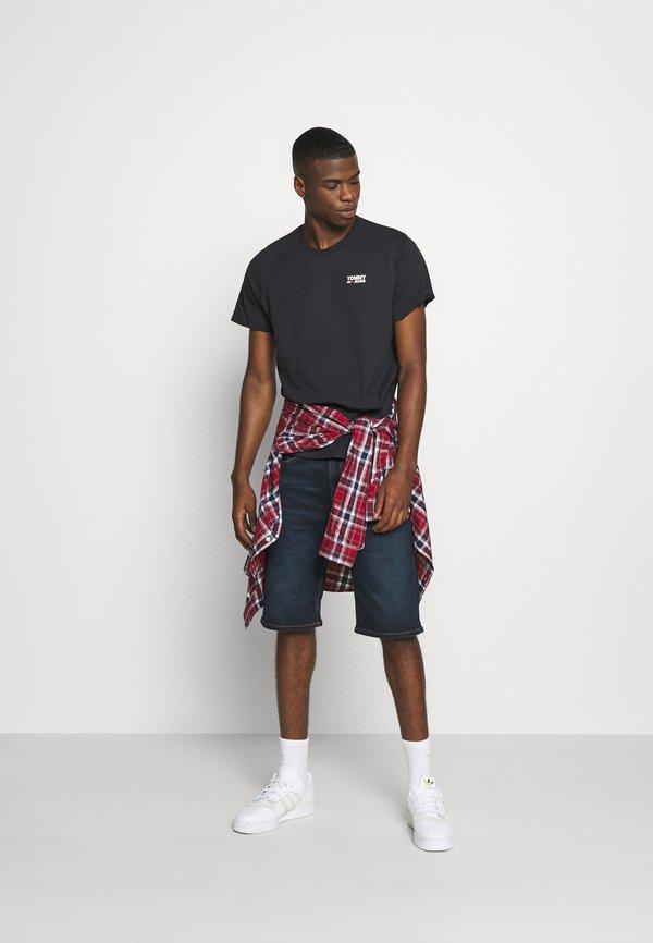 Tommy Jeans REGULAR CORP LOGO CNECK - T-shirt basic - black/czarny Odzież Męska ZOTF