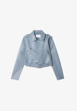 Faux leather jacket - blue
