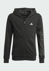 adidas Performance - ESSENTIALS - Zip-up sweatshirt - black - 4