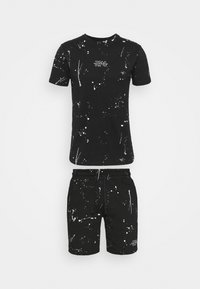 274 - WASHED TEE AND SHORT SET - Tracksuit bottoms - black - 5