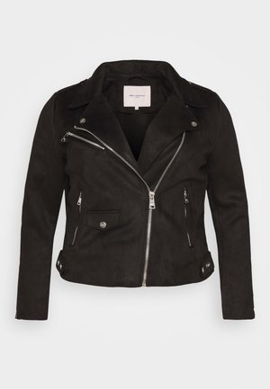 CARSHERRY BONDED - Faux leather jacket - black