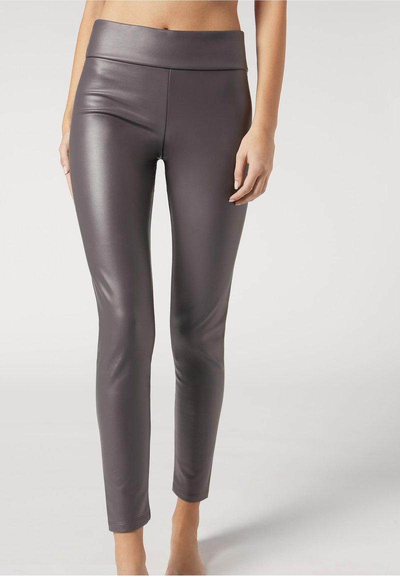 Calzedonia - Leggings - Stockings - dunkelgrau -  dark grey