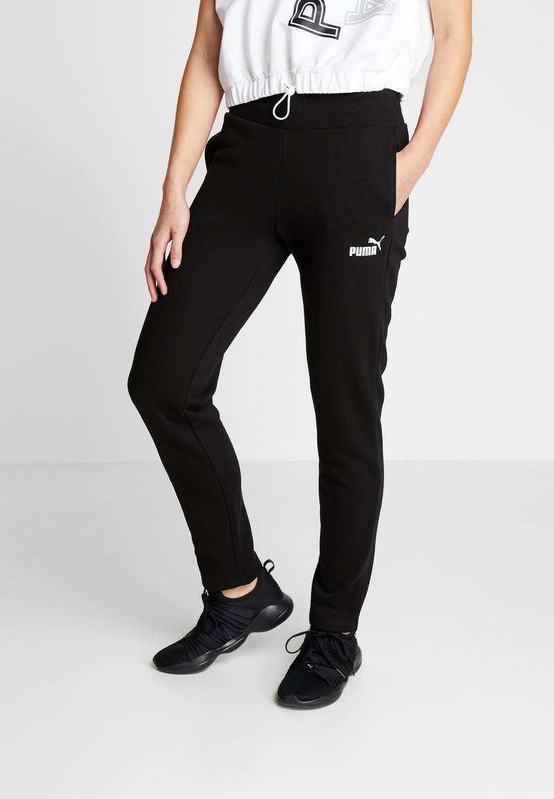 Puma - PANTS - Tracksuit bottoms - cotton black