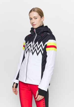 WOMAN JACKET FIX HOOD - Lyžařská bunda - bianco