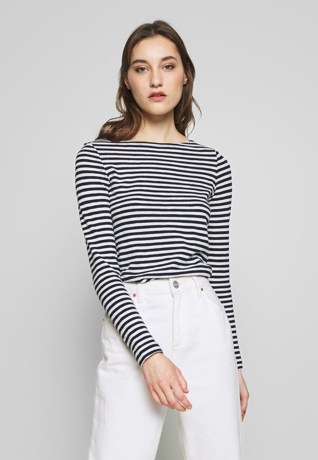 LONG SLEEVE BOAT NECK STRIPED - Langærmede T-shirts - multi/night sky
