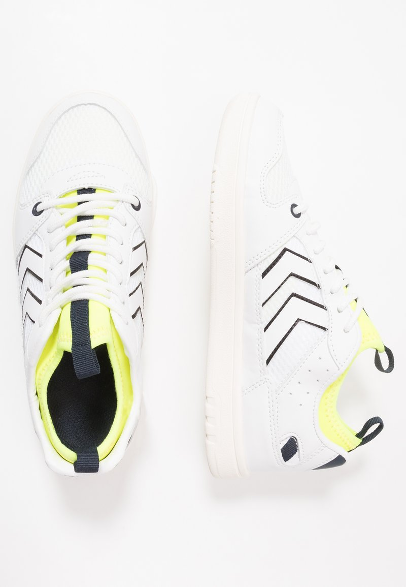 Hummel - POWER PLAY MID  - Trainers - white/safety yellow