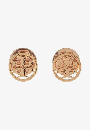 LOGO CIRCLE EARRING - Earrings - rose gold-coloured
