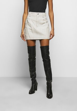 PRISMA SKIRT - Mini skirt - ecru