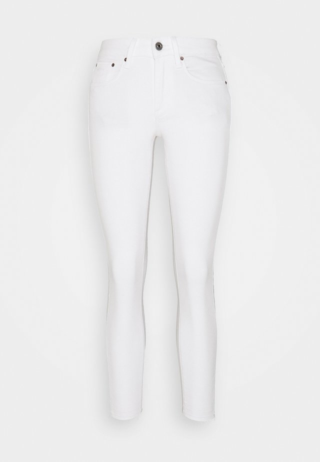 MID SKINNY ANKLE - Jeans Skinny Fit - white