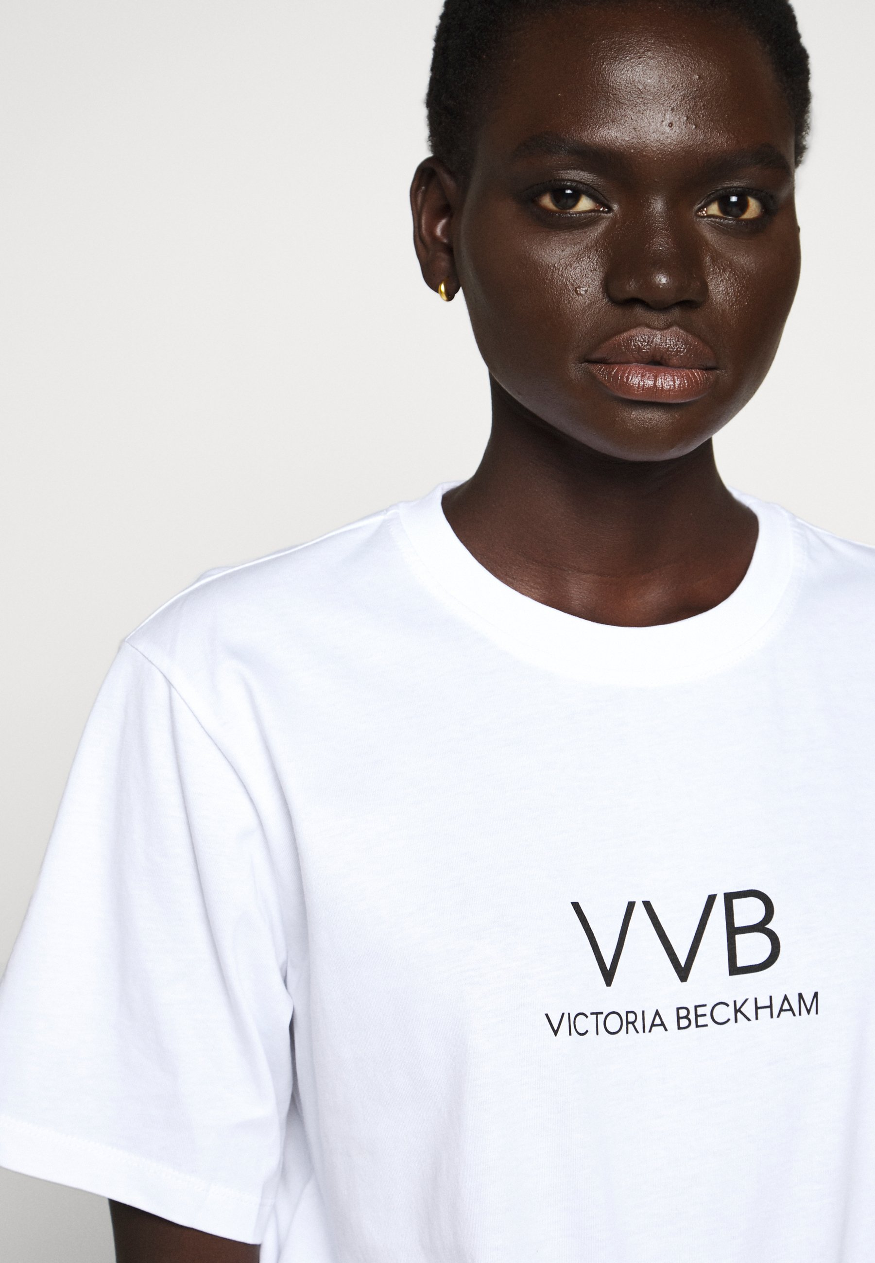 Victoria Beckham Logo - T-shirts Med Print White/hvit