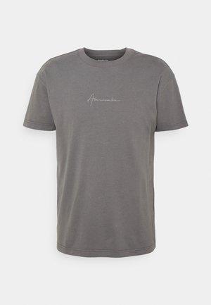 SCRIPT SMALL SCALE - T-shirt - bas - dark grey