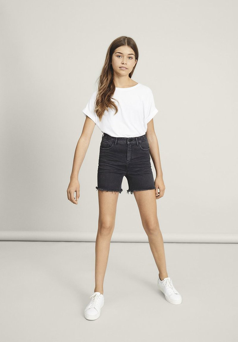LMTD - Denim shorts - black denim