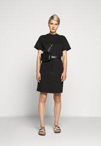 HUGO - NOMELIA - Vestito di maglina - black - 1