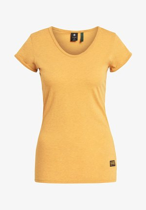 CORE EYBEN SLIM U SHORT SLEEVE - Basic T-shirt - dk gold htr
