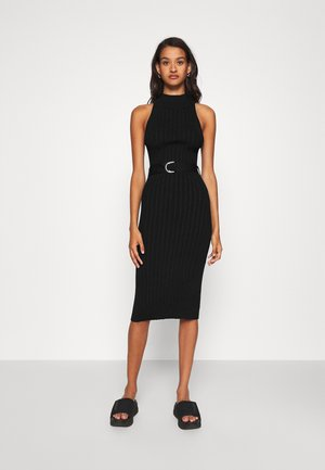 SELENE - Pletené šaty - black