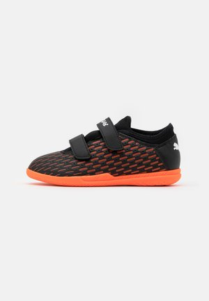 FUTURE 6.4 IT JR UNISEX - Fußballschuh Halle - black/white/shocking orange