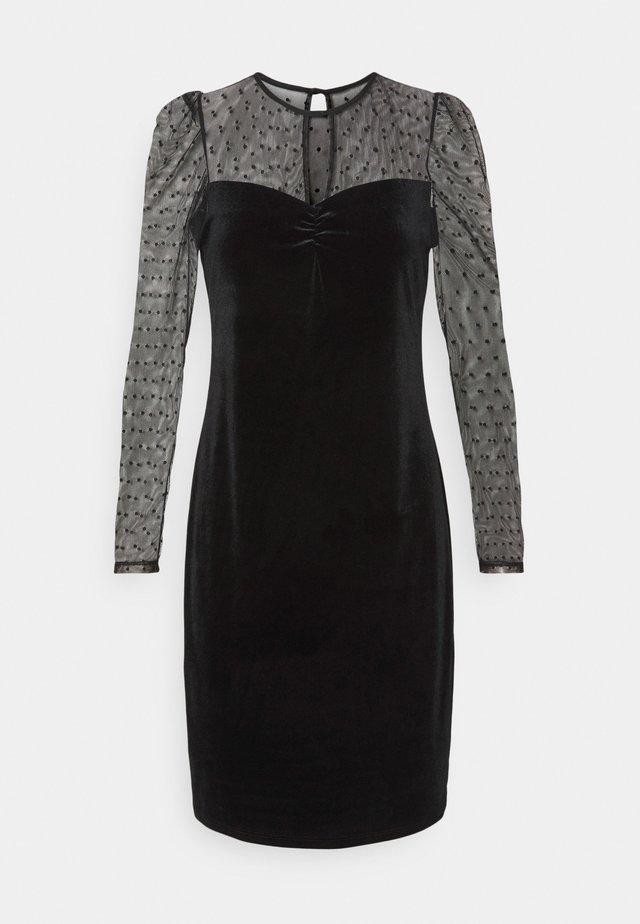 SPOT DRESS - Etui-jurk - black