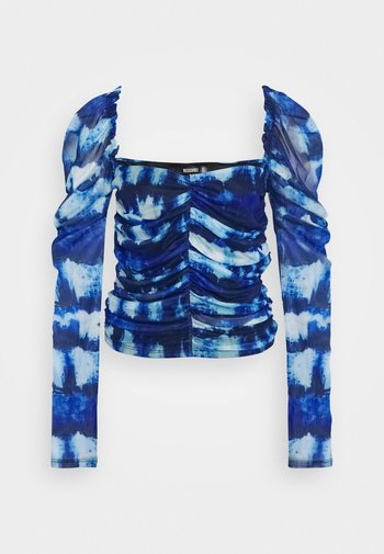 RUCHED FRONT MILKMAID TIE DYE PRINT