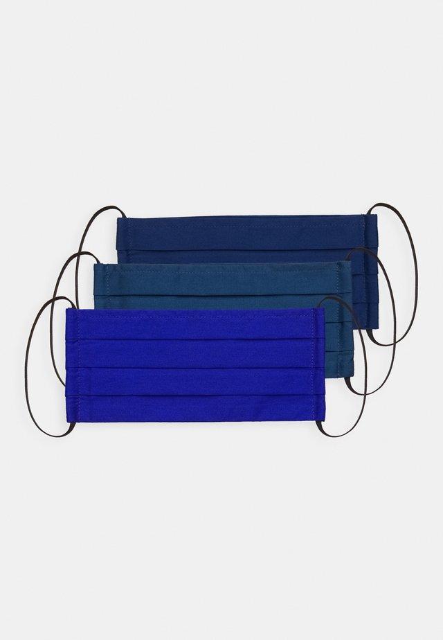 3 PACK - Stoffen mondkapje - blue/dark blue