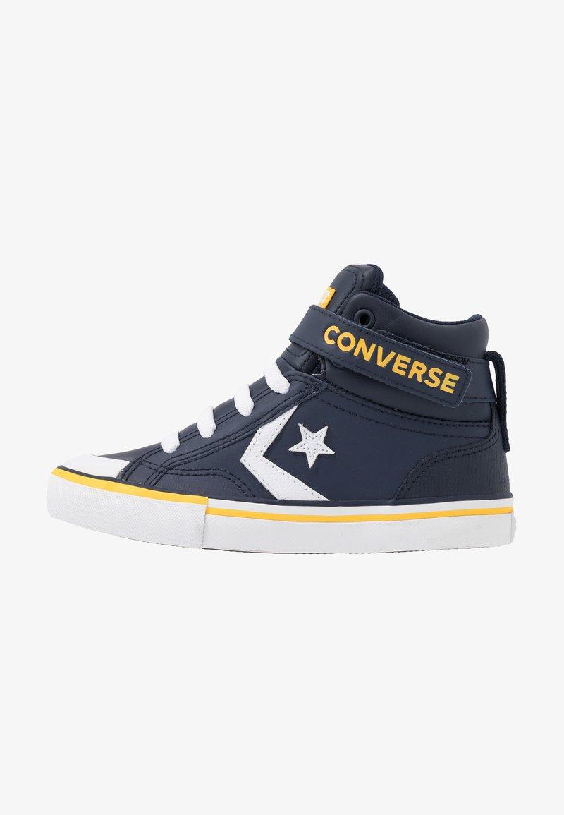 Converse - PRO BLAZE STRAP VARSITY - Zapatillas altas - obsidian/amarillo/white