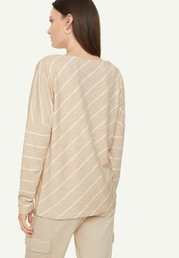 comma casual identity - Long sleeved top - light sand stripes - 2