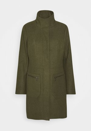 Short coat - olive green melange