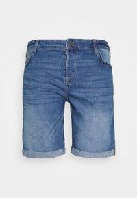ONSPLY SLIM - Denim shorts - blue denim