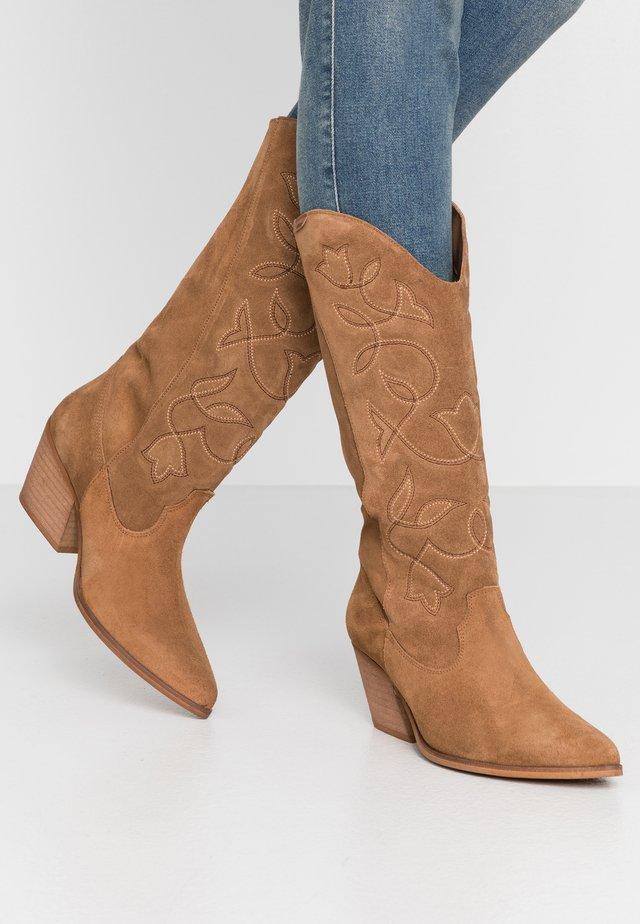 CENTA - Cowboy/Biker boots - tan