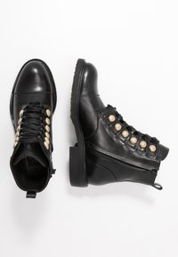 Billi Bi - Lace-up ankle boots - black/gold - 3