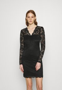 Vila - VIELLISA V NECK DRESS - Shift dress - black - 0