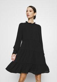 Vero Moda - VMZIGGA FRILL - Shirt dress - black - 3