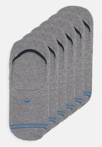TOM TAILOR - INSHOE SOCKS 6 PACK - Trainer socks - grey - 0