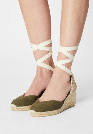 CHIARA  - Wedge sandals - kaki