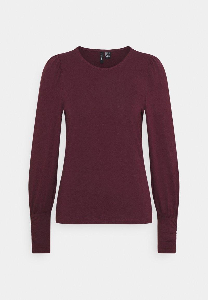 Vero Moda - VMPANDA VOLUME - Langærmede T-shirts - winetasting