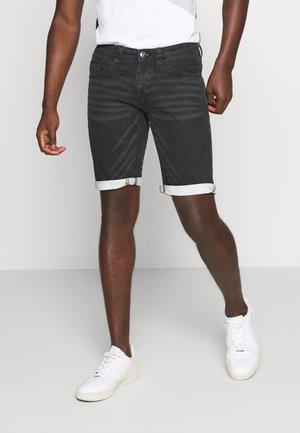 LLEIDA - Szorty jeansowe - black