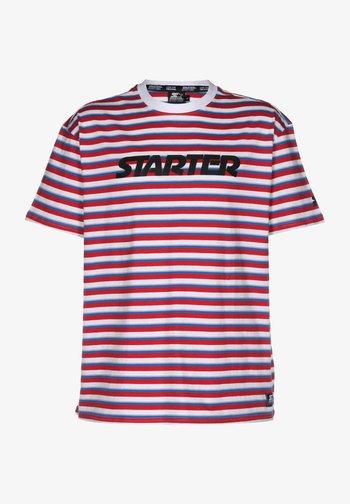 Print T-shirt - red white blue