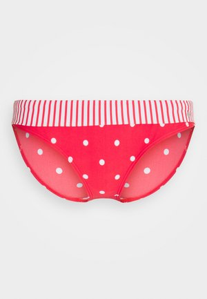 BIK PANTS BAND AUDREY - Bikini bottoms - red/white