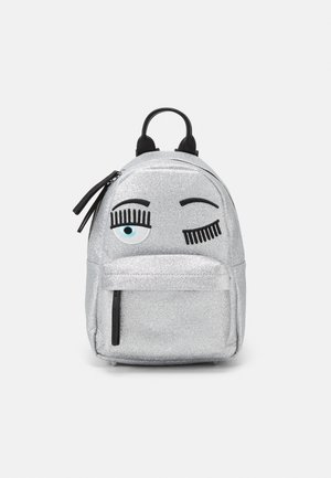 SMALL FLIRTING GLITTER BACKPACK - Rucksack - silver