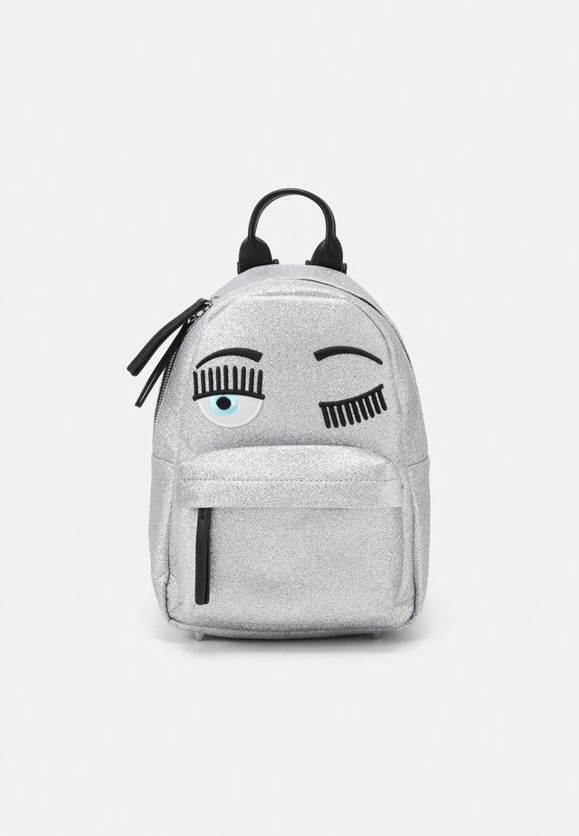 SMALL FLIRTING GLITTER BACKPACK - Rugzak - silver