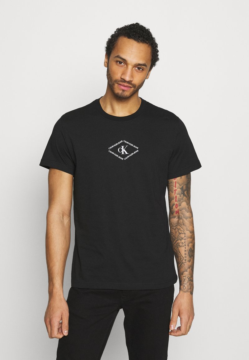 Calvin Klein Jeans - MONOTRIANGLE TEE - Print T-shirt - black