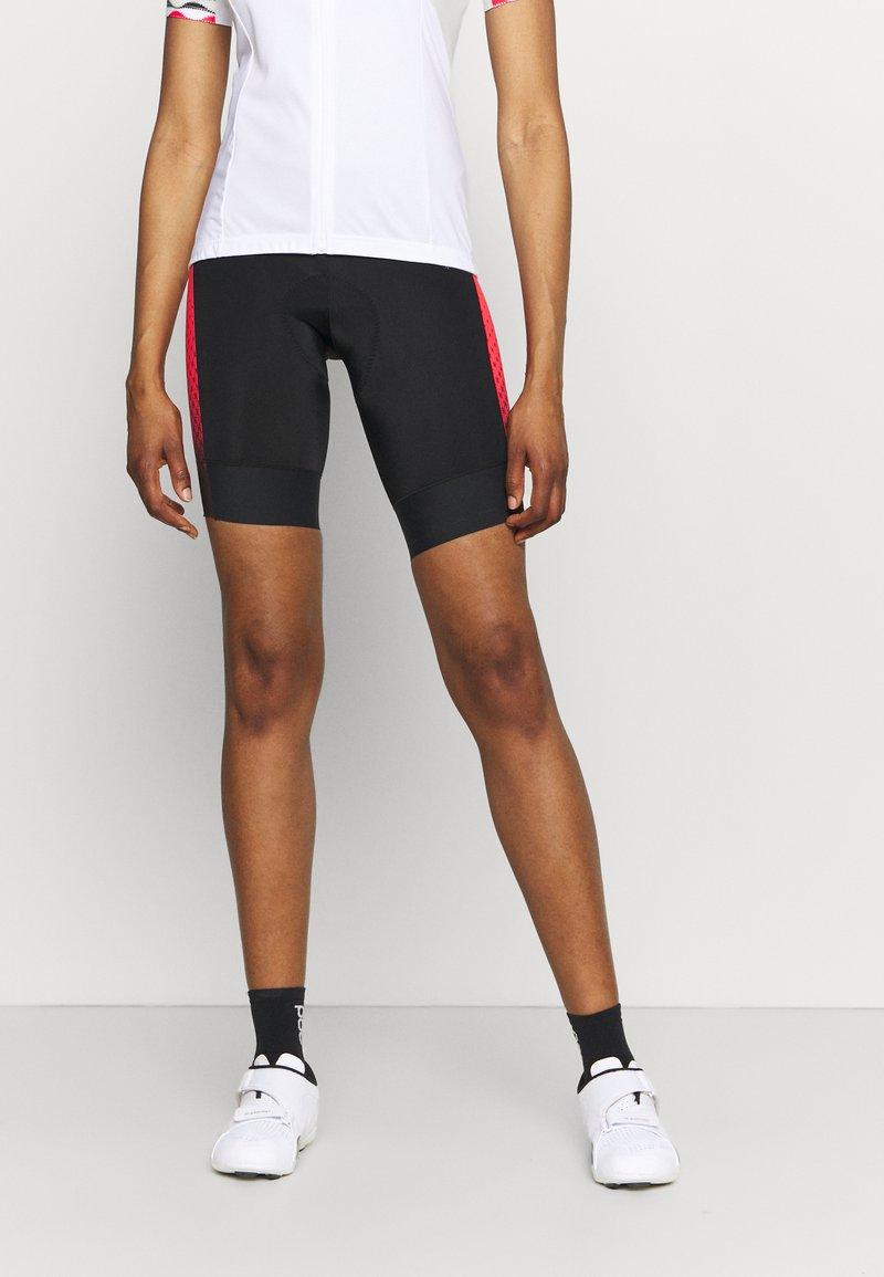 Gore Wear - HAKKA WOMENS - Tights - black/hibiscus pink