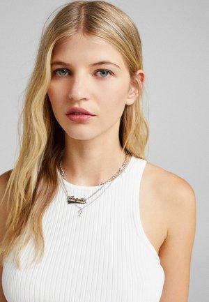 SET - Necklace - silvercoloured