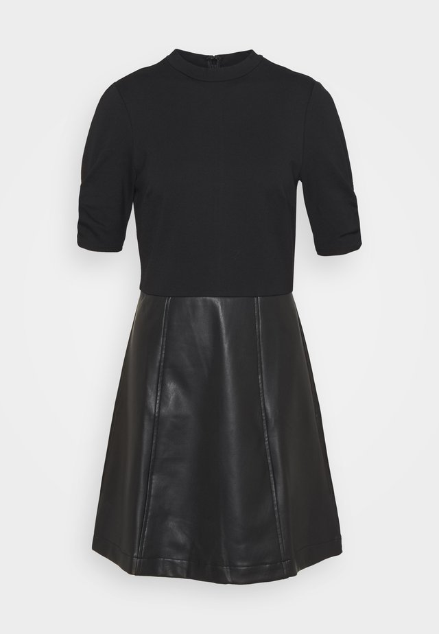 MIX MINI DRESS - Day dress - black