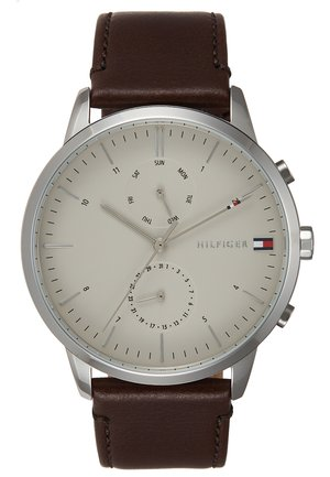 WATCH - Watch - silver-coloured/brown