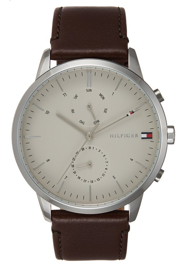 WATCH - Montre - silver-coloured/brown