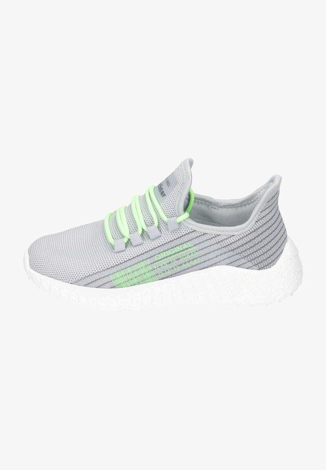 Sneaker low - light grey   neon green