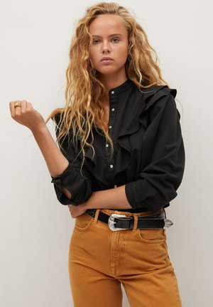 LUNA - Button-down blouse - black denim